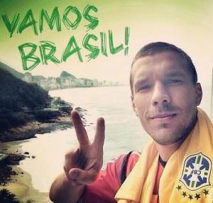 Podolski torce por vitória brasileira sobre a Holanda em Brasília